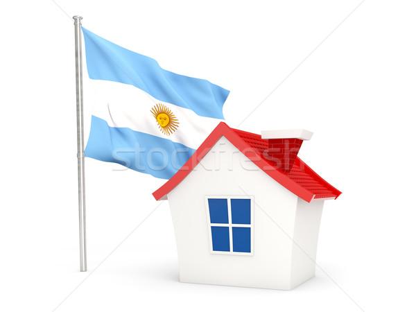 дома флаг Аргентина изолированный белый домой Сток-фото © MikhailMishchenko