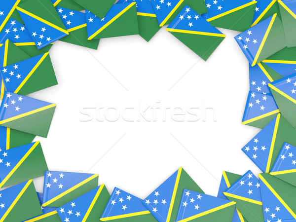 Frame with flag of solomon islands Stock photo © MikhailMishchenko
