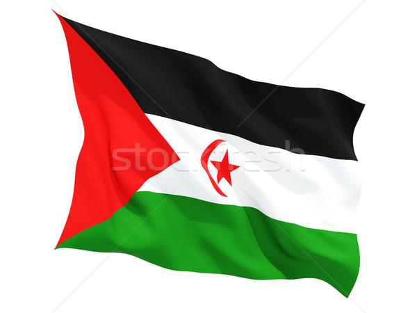Vlag westerse sahara geïsoleerd witte Stockfoto © MikhailMishchenko