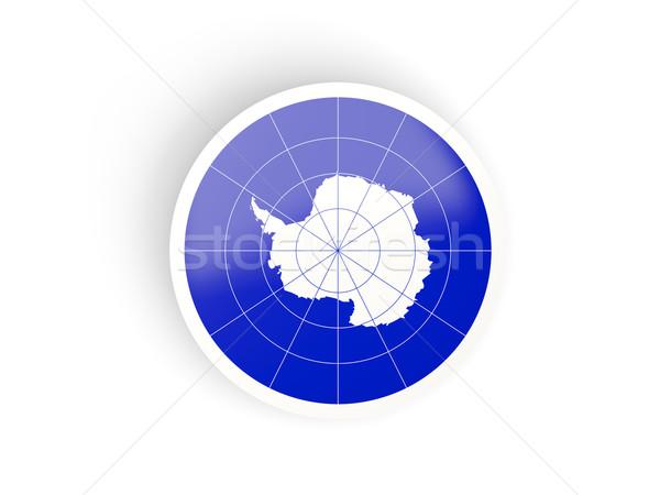 Round sticker with flag of antarctica Stock photo © MikhailMishchenko