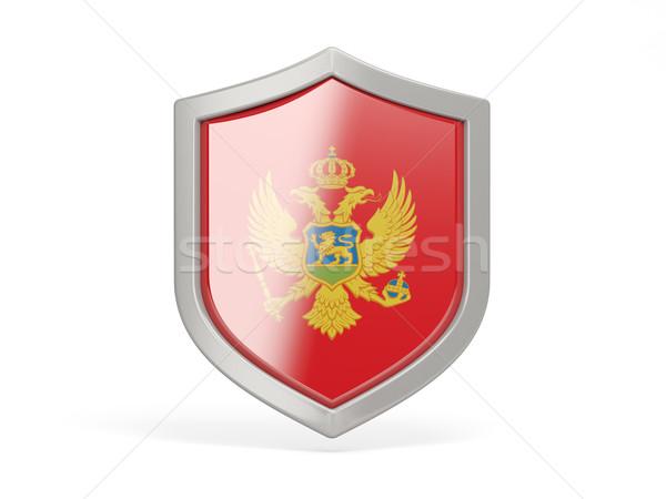 Сток-фото: щит · икона · флаг · Черногория · изолированный · белый