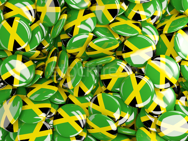 Background with round pins with flag of jamaica Stock photo © MikhailMishchenko