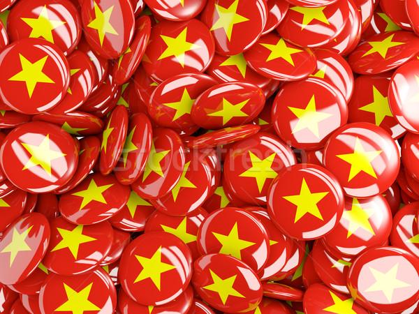 Vlag Vietnam wereld achtergrond reizen land Stockfoto © MikhailMishchenko