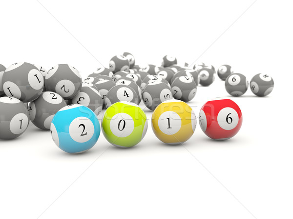 2016 Новый год лотерея изолированный белый Сток-фото © MikhailMishchenko