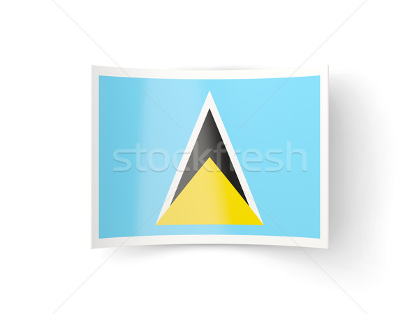 Bent icon with flag of saint lucia Stock photo © MikhailMishchenko