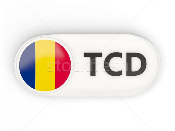 Icono bandera Chad iso código país Foto stock © MikhailMishchenko
