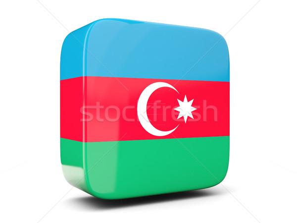 Cuadrados icono bandera Azerbaiyán 3d aislado Foto stock © MikhailMishchenko