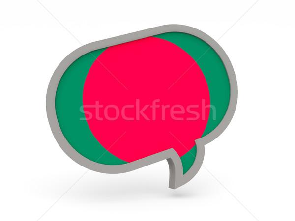 Chat ikon zászló Banglades izolált fehér Stock fotó © MikhailMishchenko