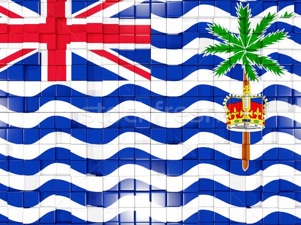Background with square parts. Flag of british indian ocean terri Stock photo © MikhailMishchenko