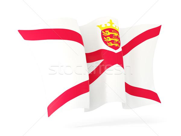 Waving flag of jersey. 3D illustration Stock photo © MikhailMishchenko