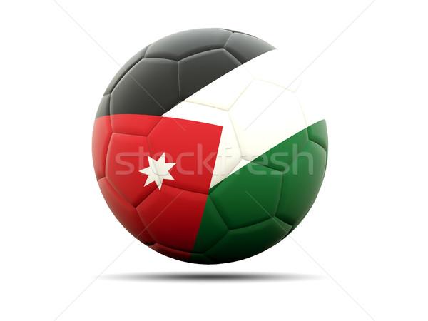 Voetbal vlag Jordanië 3d illustration voetbal sport Stockfoto © MikhailMishchenko