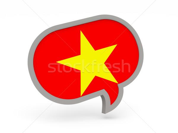 чате икона флаг Вьетнам изолированный белый Сток-фото © MikhailMishchenko