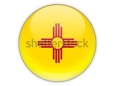 Flag of new mexico, US state icon Stock photo © MikhailMishchenko