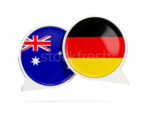 Сток-фото: чате · пузырьки · Австралия · Германия · изолированный · белый