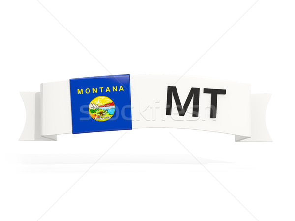 montana state flag on banner with postal abbreviation isolated o Stock photo © MikhailMishchenko