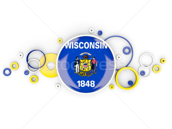 Stok fotoğraf: Bayrak · Wisconsin · circles · model · Amerika · Birleşik · Devletleri · yerel