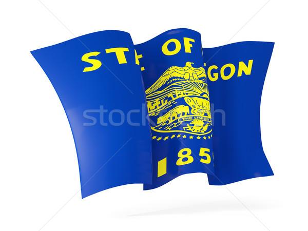 oregon state flag waving icon close up. United states local flag Stock photo © MikhailMishchenko