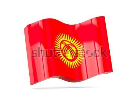3D vlag Kirgizië geïsoleerd witte reizen Stockfoto © MikhailMishchenko