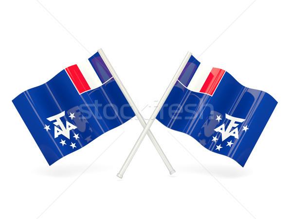 Flag of french southern territories Stock photo © MikhailMishchenko