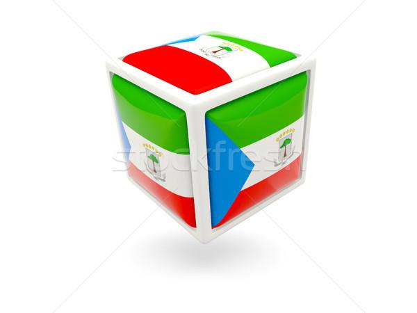 Vlag Equatoriaal-Guinea kubus icon geïsoleerd witte Stockfoto © MikhailMishchenko