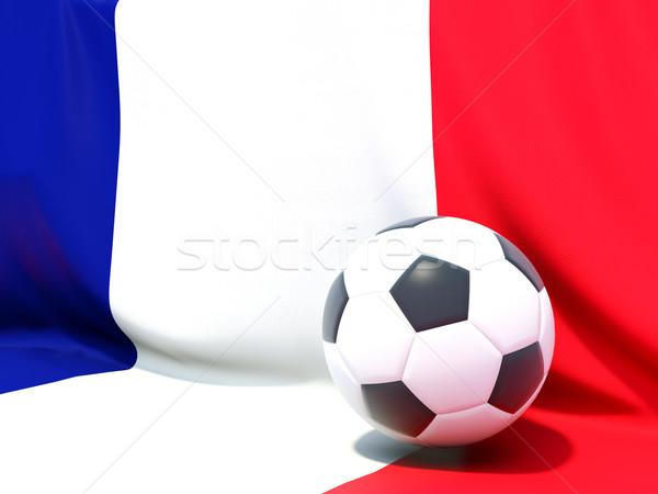 Banderą Francja piłka nożna zespołu kraju Zdjęcia stock © MikhailMishchenko