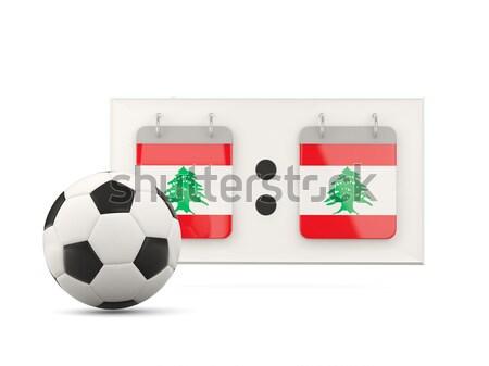 フラグ レバノン サッカー チーム 国 ストックフォト © MikhailMishchenko