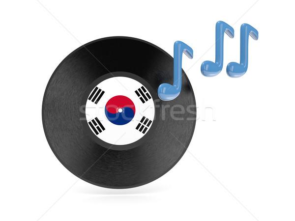 Vinyl disk with flag of south korea Stock photo © MikhailMishchenko