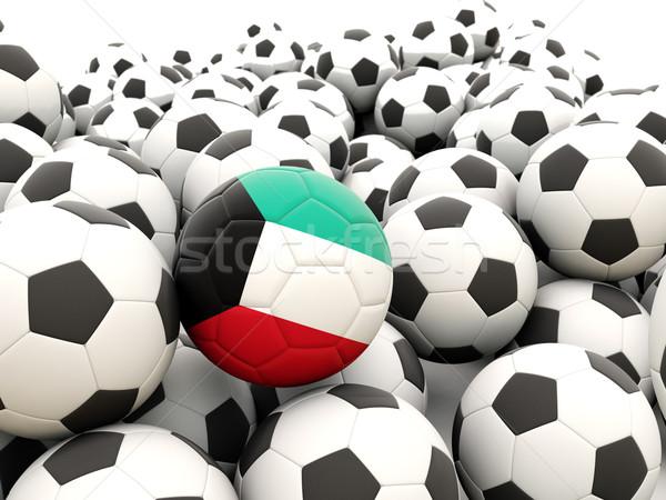 Calcio bandiera Kuwait regolare estate Foto d'archivio © MikhailMishchenko