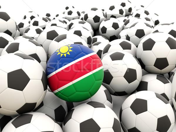 футбола флаг Намибия регулярный Футбол Сток-фото © MikhailMishchenko