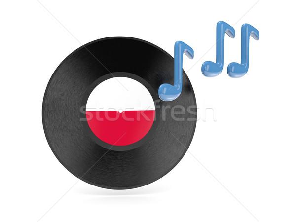 Vinyl disk with flag of poland Stock photo © MikhailMishchenko