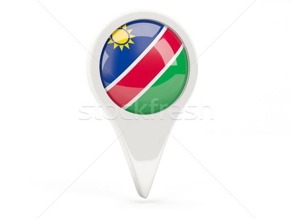 Bayrak ikon Namibya yalıtılmış beyaz harita Stok fotoğraf © MikhailMishchenko