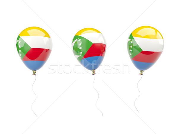 Air balloons with flag of comoros Stock photo © MikhailMishchenko