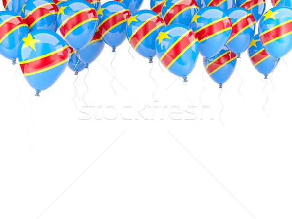 Balon çerçeve bayrak demokratik cumhuriyet Kongo Stok fotoğraf © MikhailMishchenko