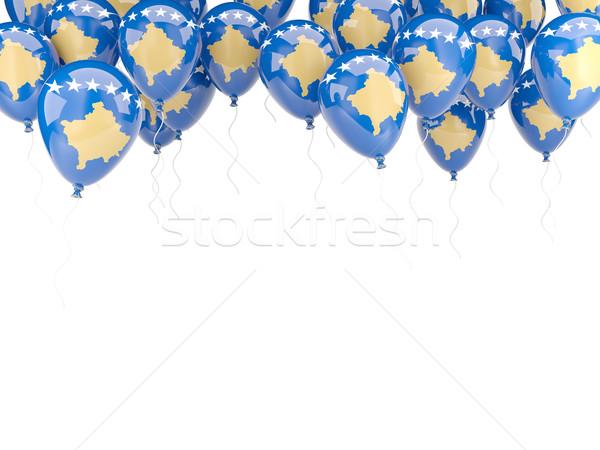 Balloon frame with flag of kosovo Stock photo © MikhailMishchenko