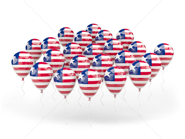 Balloons with flag of liberia Stock photo © MikhailMishchenko