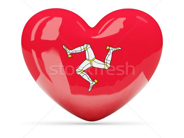 Heart shaped icon with flag of isle of man Stock photo © MikhailMishchenko