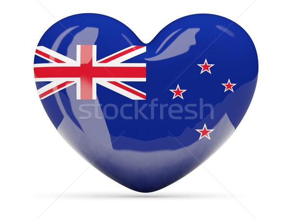 Szív alakú ikon zászló Új-Zéland izolált Stock fotó © MikhailMishchenko