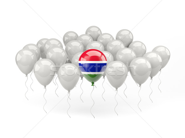 Air balloons with flag of gambia Stock photo © MikhailMishchenko