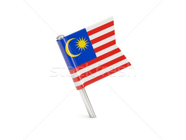 Bandeira pin Malásia isolado branco Foto stock © MikhailMishchenko