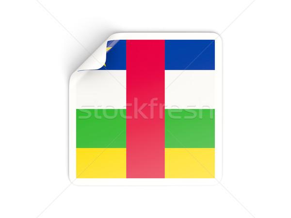 квадратный наклейку флаг центральный африканских республика Сток-фото © MikhailMishchenko