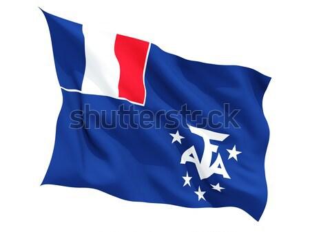 Bandiera francese meridionale isolato bianco Foto d'archivio © MikhailMishchenko