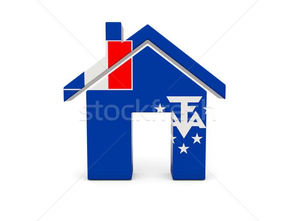 Otthon zászló francia déli izolált fehér Stock fotó © MikhailMishchenko