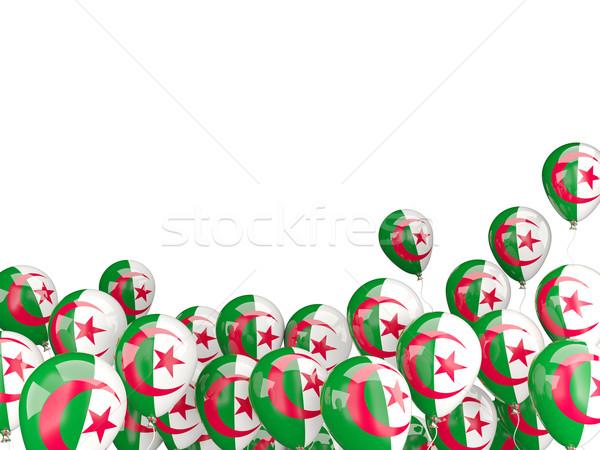Battant ballons pavillon Algérie isolé blanche Photo stock © MikhailMishchenko