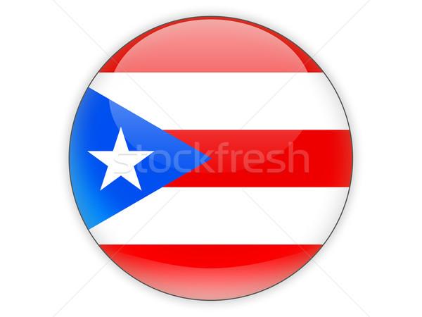 Icon vlag Puerto Rico geïsoleerd witte reizen Stockfoto © MikhailMishchenko