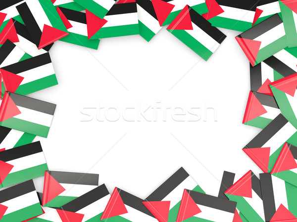 Frame with flag of palestinian territory Stock photo © MikhailMishchenko