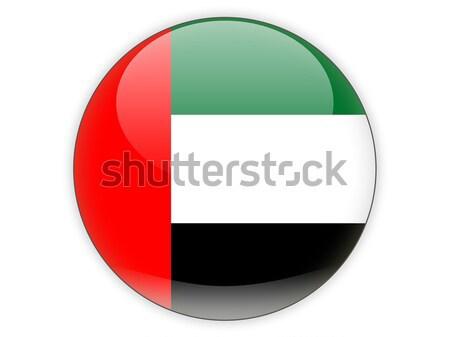 Ikon bayrak Birleşik Arap Emirlikleri yalıtılmış beyaz seyahat Stok fotoğraf © MikhailMishchenko