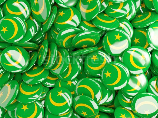 Background with round pins with flag of mauritania Stock photo © MikhailMishchenko