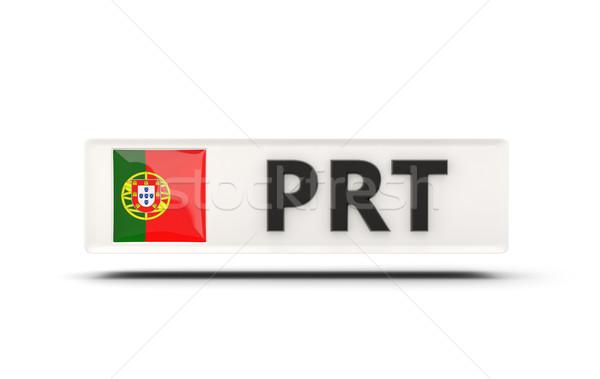 Vierkante icon vlag Portugal iso code Stockfoto © MikhailMishchenko
