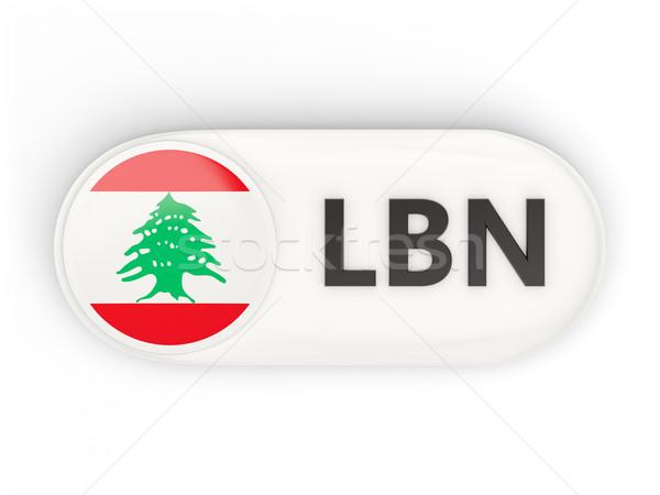 Icône pavillon Liban iso code pays Photo stock © MikhailMishchenko