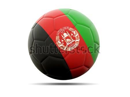 Futbol bayrak Afganistan 3d illustration futbol spor Stok fotoğraf © MikhailMishchenko